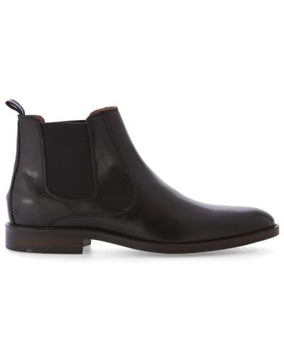 tommy hilfiger herren schwarze chelsea boots dallen aus leder reduziert. Black Bedroom Furniture Sets. Home Design Ideas