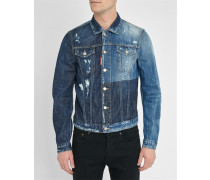 Denim-Jacke Destroy Bloc Washed