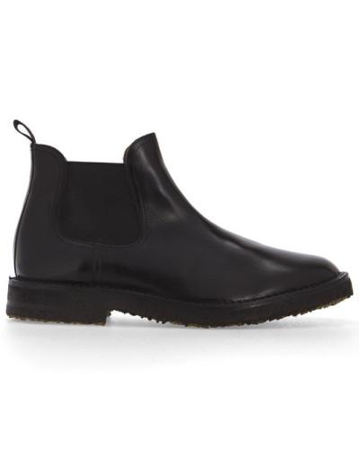 buttero herren schwarze chelsea boots idea mit kreppsohle aus leder reduziert. Black Bedroom Furniture Sets. Home Design Ideas