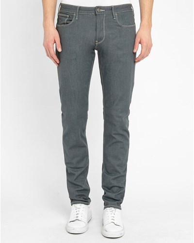 armani jeans herren graue eng sitzende jeans mit. Black Bedroom Furniture Sets. Home Design Ideas