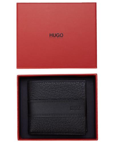 hugo boss herren narbenleder portemonnaie in schwarz. Black Bedroom Furniture Sets. Home Design Ideas