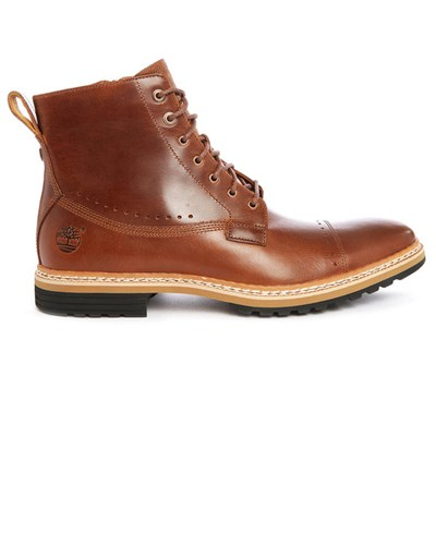 timberland herren braune leder boots mit rei verschluss. Black Bedroom Furniture Sets. Home Design Ideas