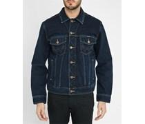 Dunkelblaue Jeansjacke Western Jacket