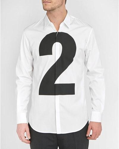 dsquared herren wei es popeline hemd 2 reduziert. Black Bedroom Furniture Sets. Home Design Ideas