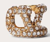 VALENTINO GARAVANI Einzelner Earcuff Vlogo Signature aus Metall mit Swarovski®-kristallen