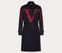 Valentino Uomo Trenchcoat mit Vlogo-print