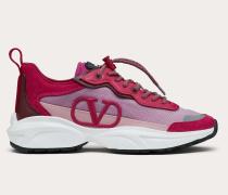 Sneakers Shegoes aus Spaltleder und Mesh-gewebe