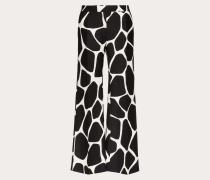 Bedruckte Hose aus Crêpe Couture