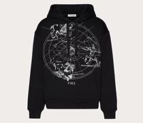 VALENTINO Kapuzensweatshirt mit Zodiac Map-print S