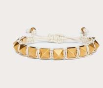 VALENTINO GARAVANI Armband Rockstud aus Gewachster Baumwolle und Metall