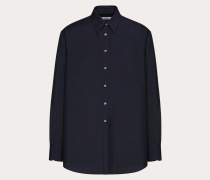 VALENTINO Hemd in Semi-oversize-passform aus Mohairwolle