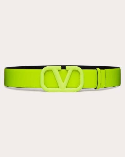 Gürtel Vlogo aus Neonfarbendem Kalbsleder, 5