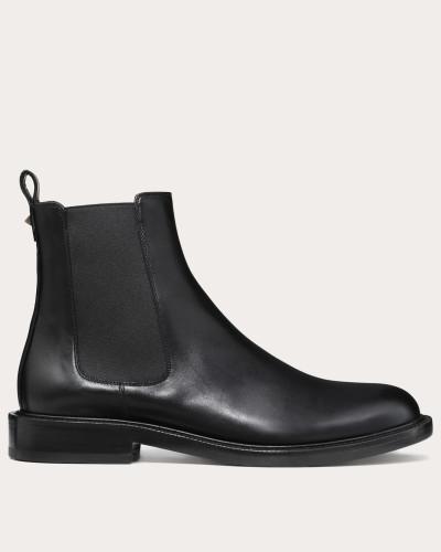 Chelsea Boots aus glänzendem Kalbsleder