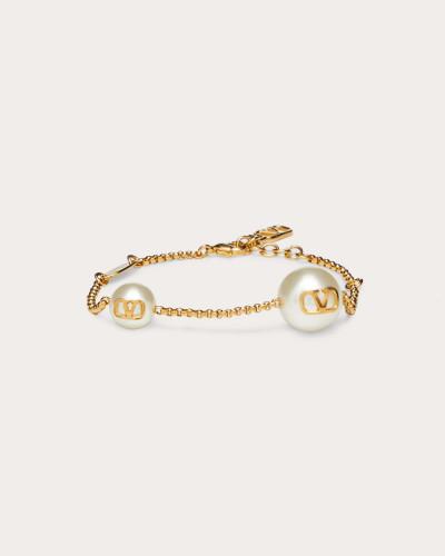 Valentino Garavani Armband Vlogo mit Perlen