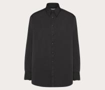VALENTINO Hemd in Semi-oversize-passform aus Nylon