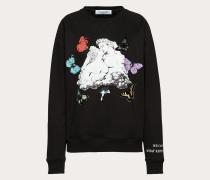 Valentino Sweatshirt aus Baumwolljersey mit Undercover Print XS