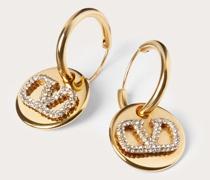 VALENTINO GARAVANI Ohrringe Vlogo Signature aus Metall mit Swarovski®-kristallen