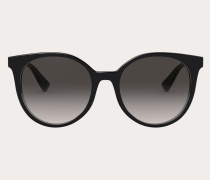 VALENTINO Runde Sonnenbrille aus Acetat mit Nieten