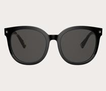 VALENTINO Runde Sonnenbrille Stud aus Acetat