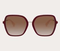 VALENTINO Eckige Sonnenbrille aus Acetat mit Funktionellen Nieten