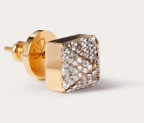 VALENTINO GARAVANI Mono-ohrring Call Me Valentino mit Kristallen