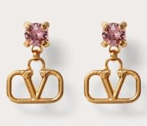 VALENTINO GARAVANI Ohrringe Vlogo Signature aus Metall mit Kristallen