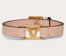 Valentino Garavani Armband Vlogo aus Kalbsleder