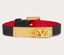 VALENTINO GARAVANI Armband Vlogo Signature aus Kalbsleder