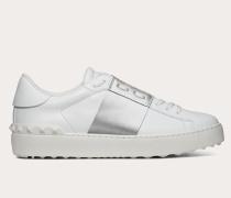 VALENTINO GARAVANI Sneaker Open mit Streifen in Metallic-Optik