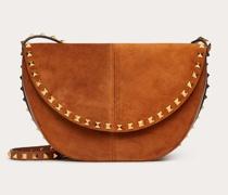 VALENTINO GARAVANI Crossbody Bag Rockstud aus Velourskalbs und Kalbs