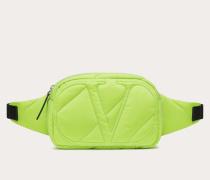 VALENTINO GARAVANI Gürteltasche Vlogo Signature aus Neonfarbenem Nylon