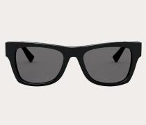 VALENTINO Rechteckige Sonnenbrille aus Acetat mit Vlogo