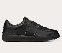 Sneakers Rockstud Untitled Noir aus Kalbsleder