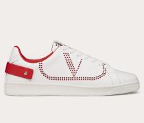 Sneakers Backnet aus Kalbs