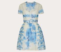 VALENTINO Kurzes Kleid aus Bedrucktem Organza
