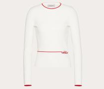 Pullover aus Viskose mit -signatur-stickerei S