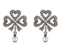 Ohrringe aus Silber mit Glasperlen