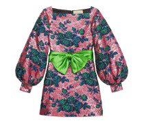 Minikleid aus Blumen-Jacquard