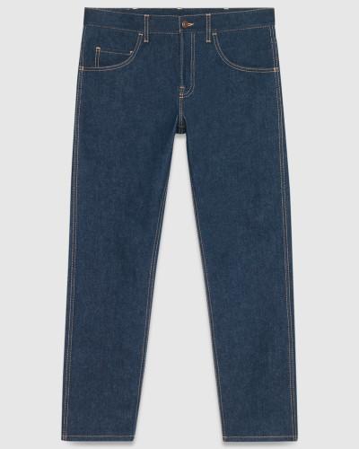 gucci herren jeans mit abgeschr gtem bein und