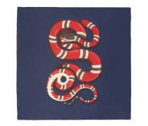Halstuch aus Seidensablé mit Schlangen-Print