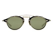 Sonnenbrille mit rundem Rahmen aus Acetat und Metall