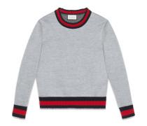 Pullover aus Viskosejersey mit Web-Details