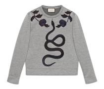 Pullover aus Baumwolle mit Schlange