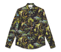 Duke Hemd aus Baumwolle mit Tropical-Print