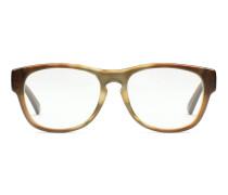 Gestreifte Azetatbrille