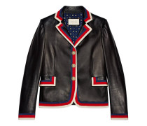 Jacke aus Leder mit Stickerei