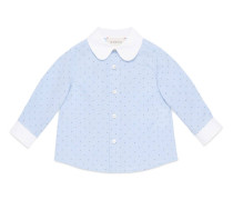 Baby Hemd aus Fil Coupé mit Punkten