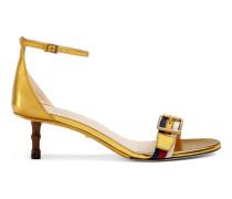 Sandale Sylvie aus metallischem Leder