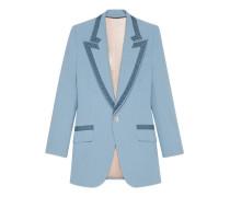 Jacke aus Wolle und Samt