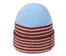 Mütze aus Wolle mit Streifen